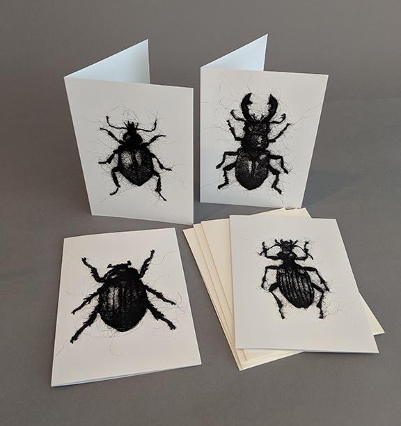 Set of 4 Beetle Wool Drawing Cards ($50 Pledge)