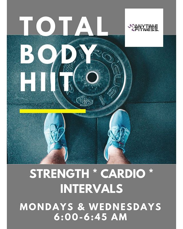 Summer goals? We have your workout.  Join us Monday and Wednesday mornings at @anytimefitnesstc East location.  Sign up and info: melissa@anytimefitnesstc.com #strengthandconditioning #smartyiswell #traversecity #results #intervals