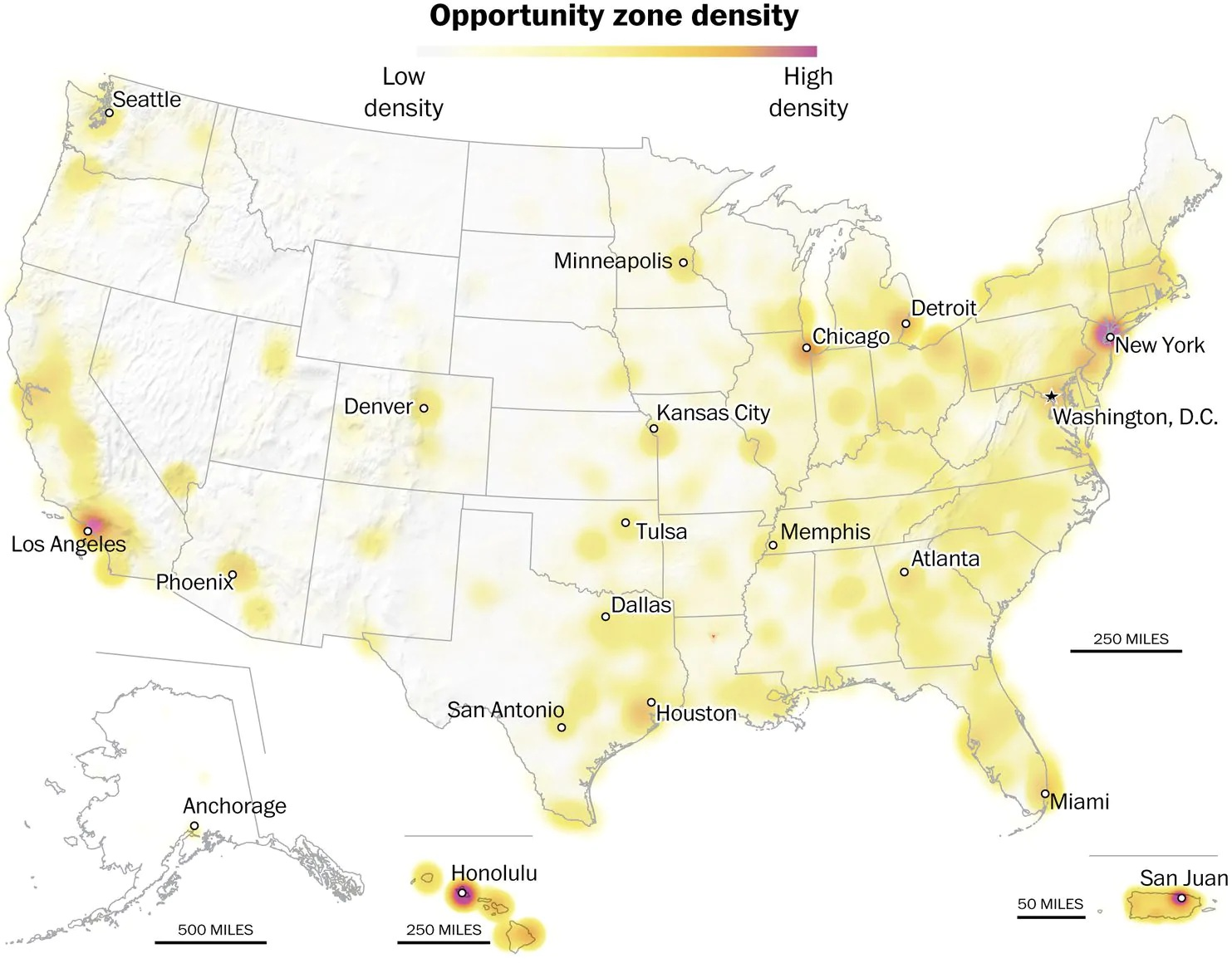 The designated Opportunity Zones across the 50 states and D.C. have an average  poverty rate  of nearly 31 percent, well above the 20 percent eligibility threshold and nearly four points higher than the average across all lower income communities.