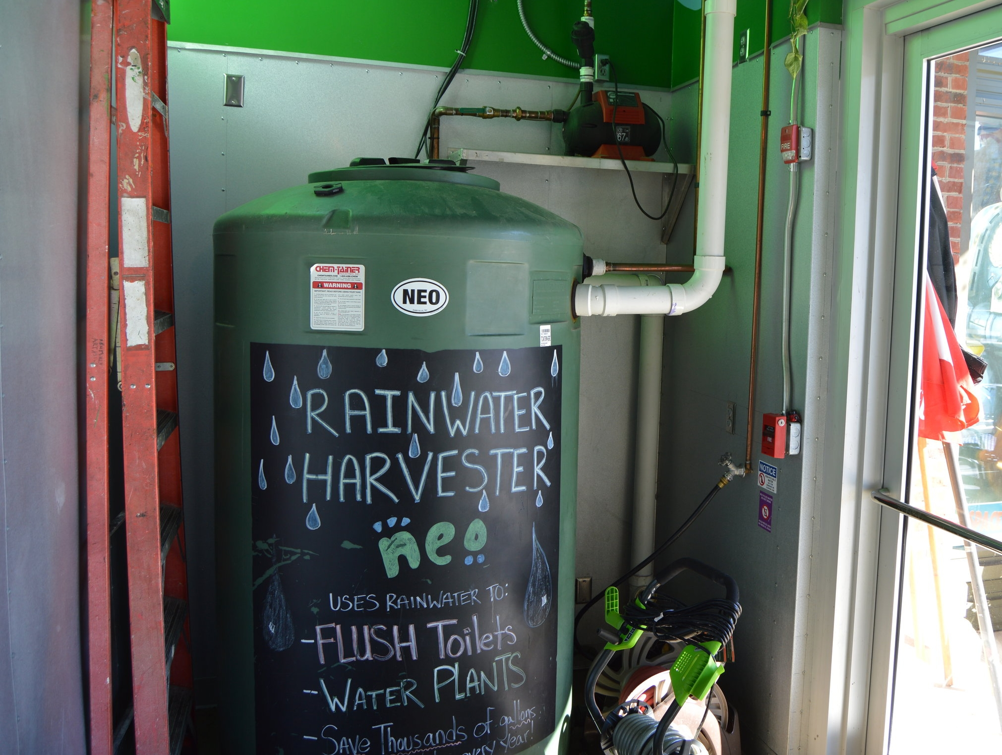 Our mission in action: rainwater harvester at our Biltmore Park location