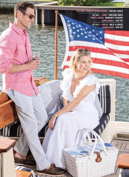 NANTUCKET MAGAZINE - Spotted! A one of a kind, hand painted picnic basket for 28 Centre Pointe!