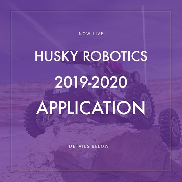 Want to be a part of Husky Robotics? New member application is now open for the 2019-2010 school year. Follow the link in our profile and log-in with your UW net ID to apply. We're excited to see you next year!