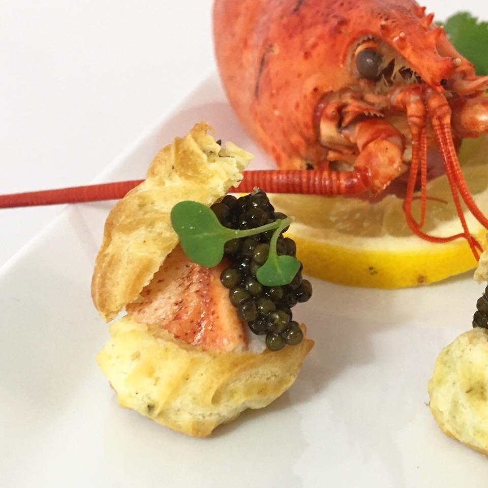Lobster Gougeres - beluga caviar