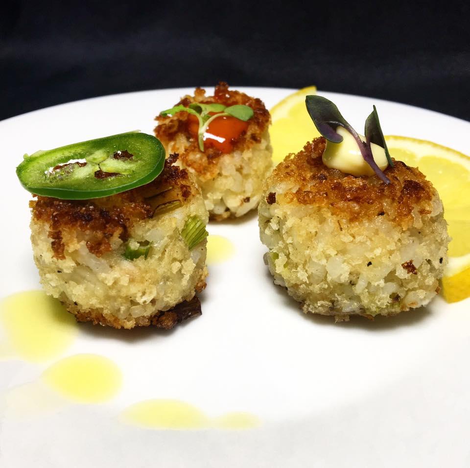 Barramundi Fishcake Bites - wasabi aioli - gochujang kewpie