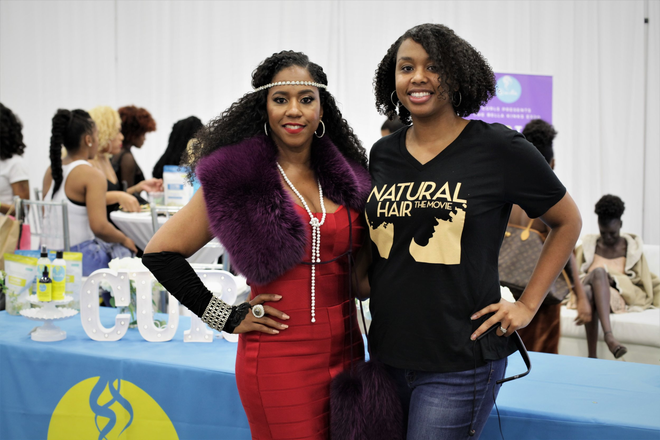 CEO of Curls.biz Mahisha Dellinger and Executive Producer Ashanti Titus
