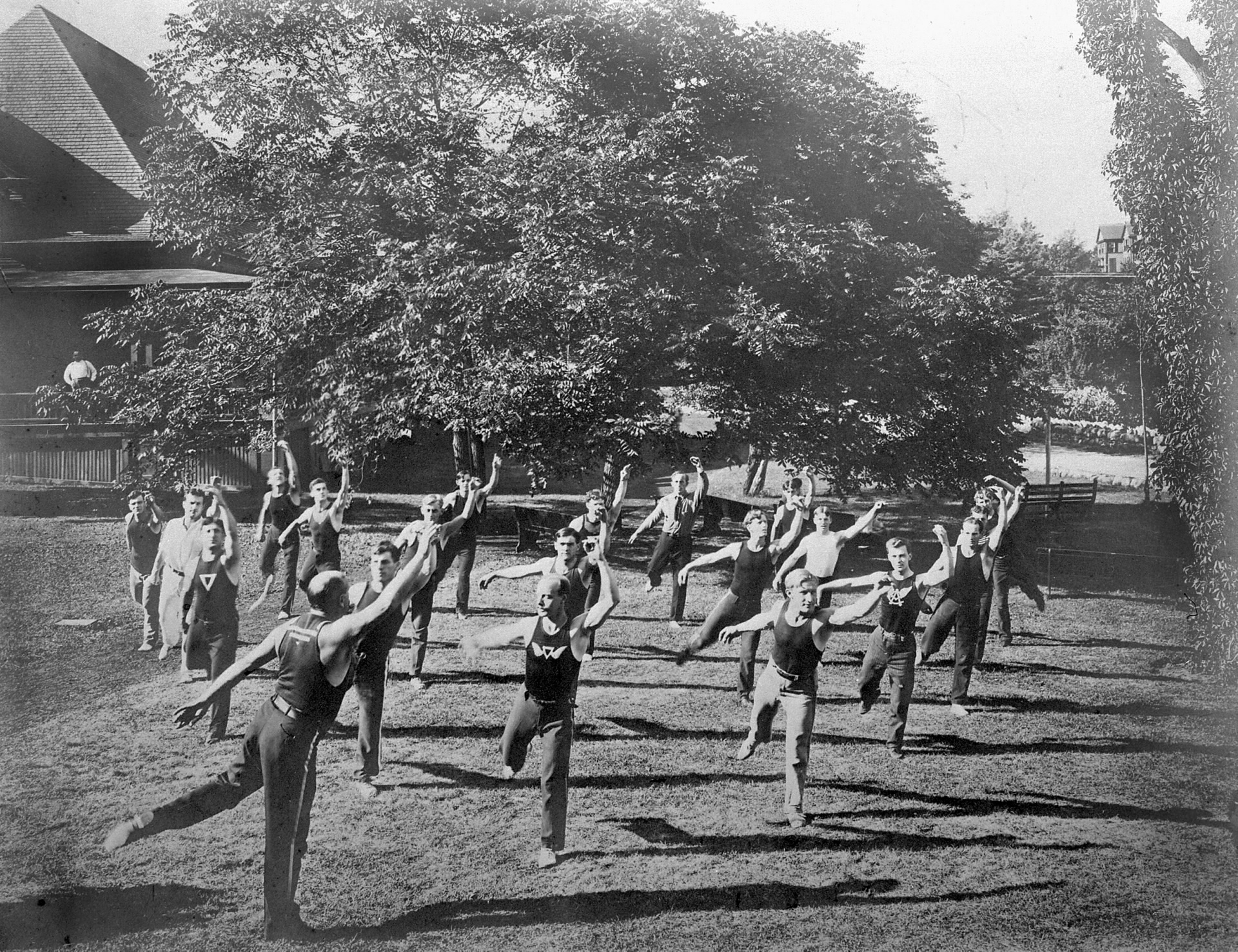 Young Men's Christian Association, Broadview Ave., calisthenics class Young Men's Christian Association, Broadview Ave., calisthenics class