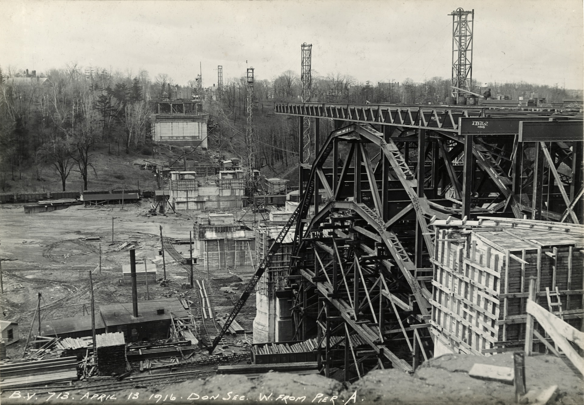 Construction of The Bloor Street Viaduct, 1919