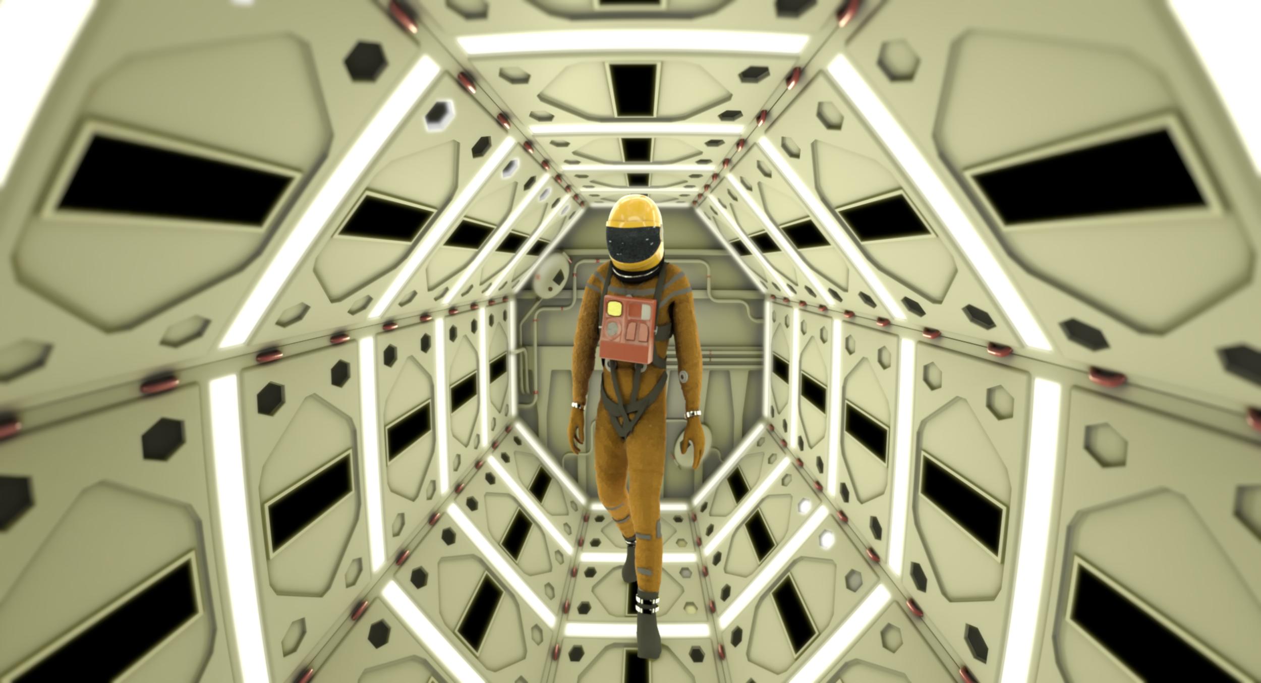 2001 Space Odyssey CG Frame Match