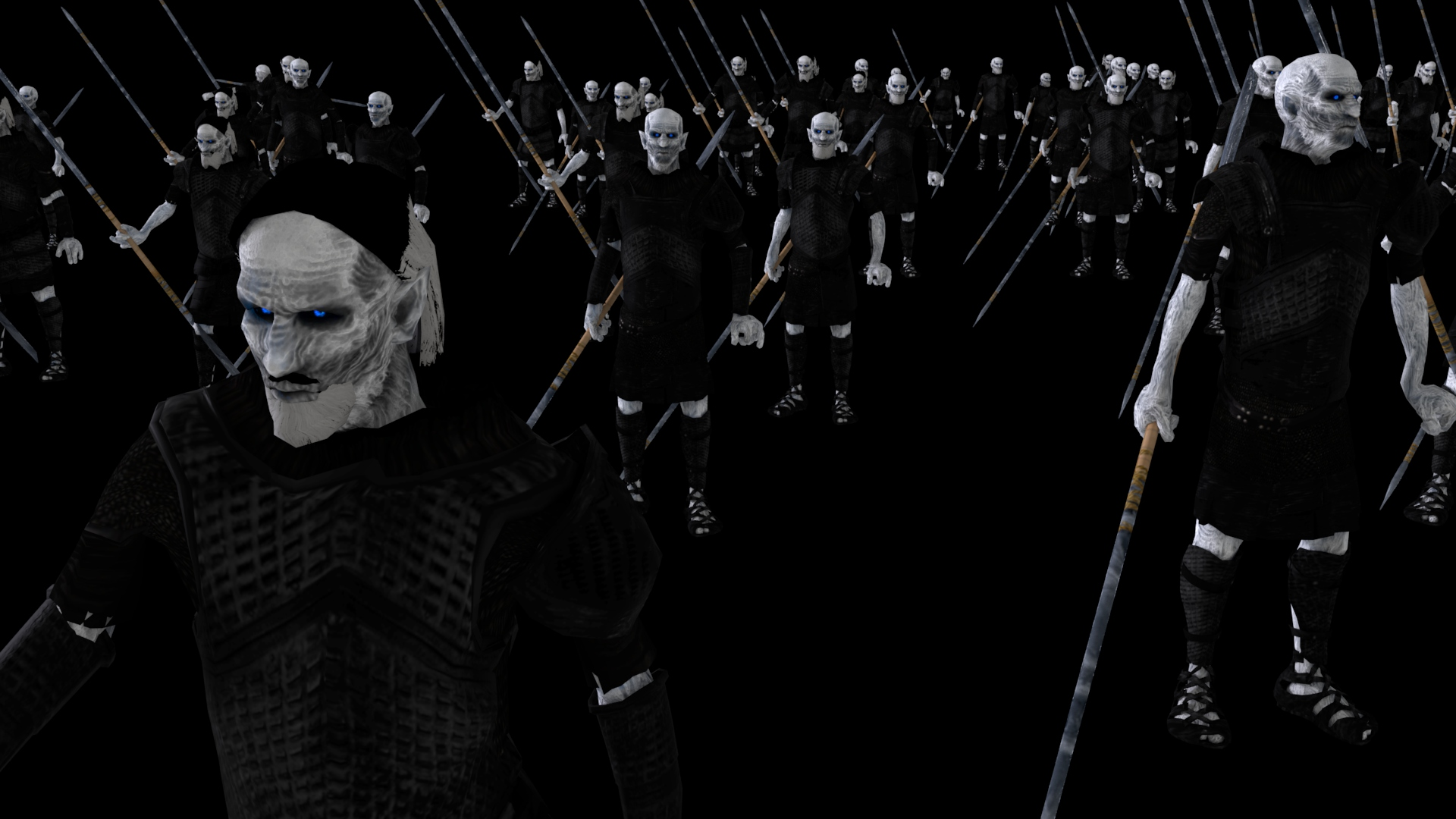 White Walker Crowd Sim