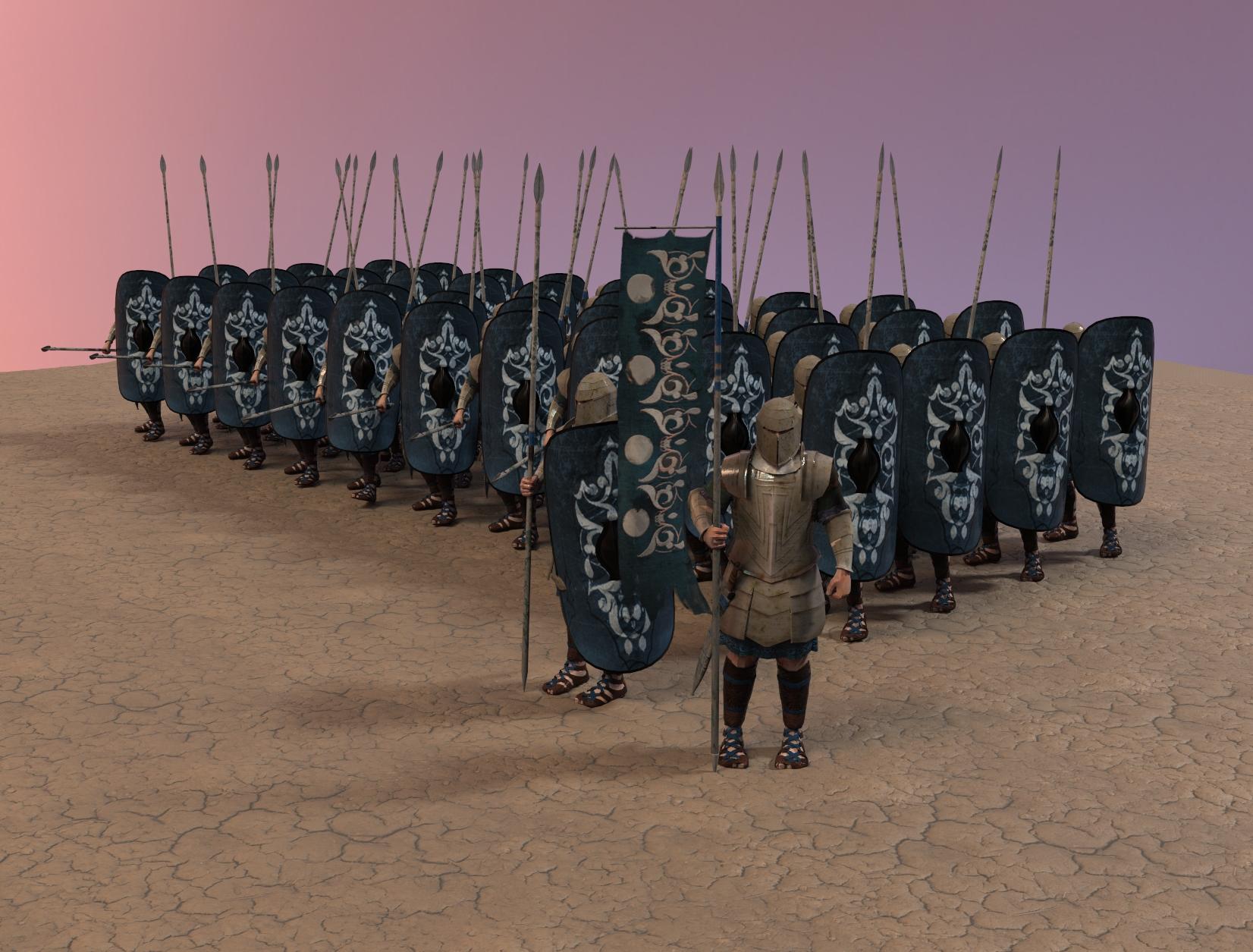 Houdini Crowd Simulation Character Models Platoon