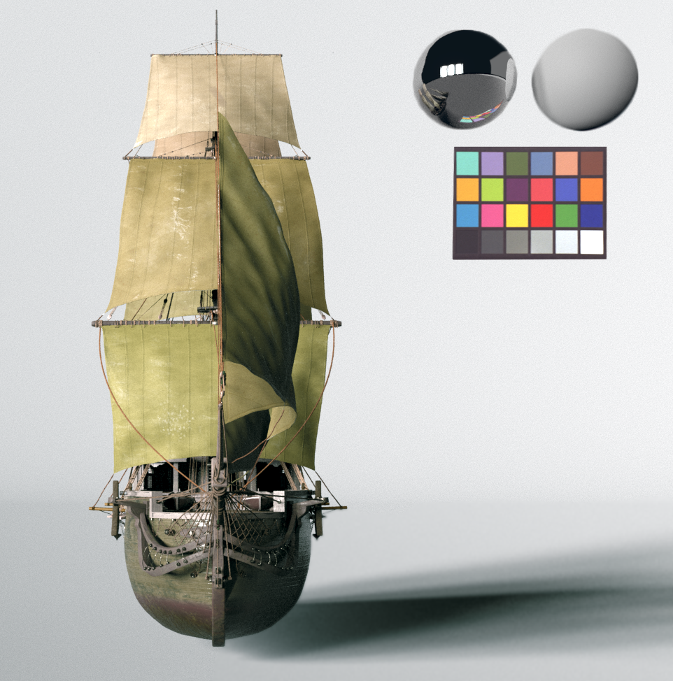 Houdini Ship Model with Vellum Cloth Sails