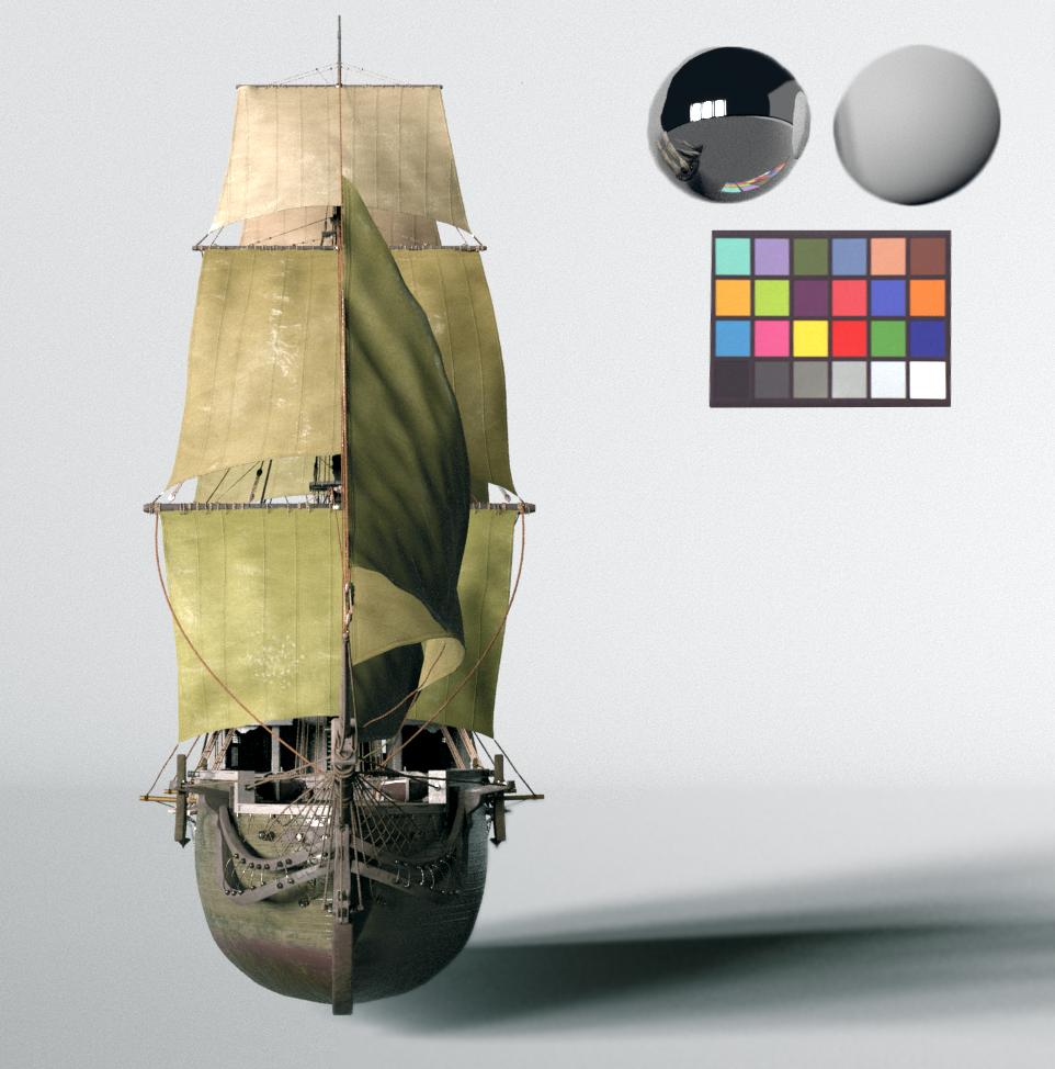 Houdini Pirate Ship Model by David Pressler