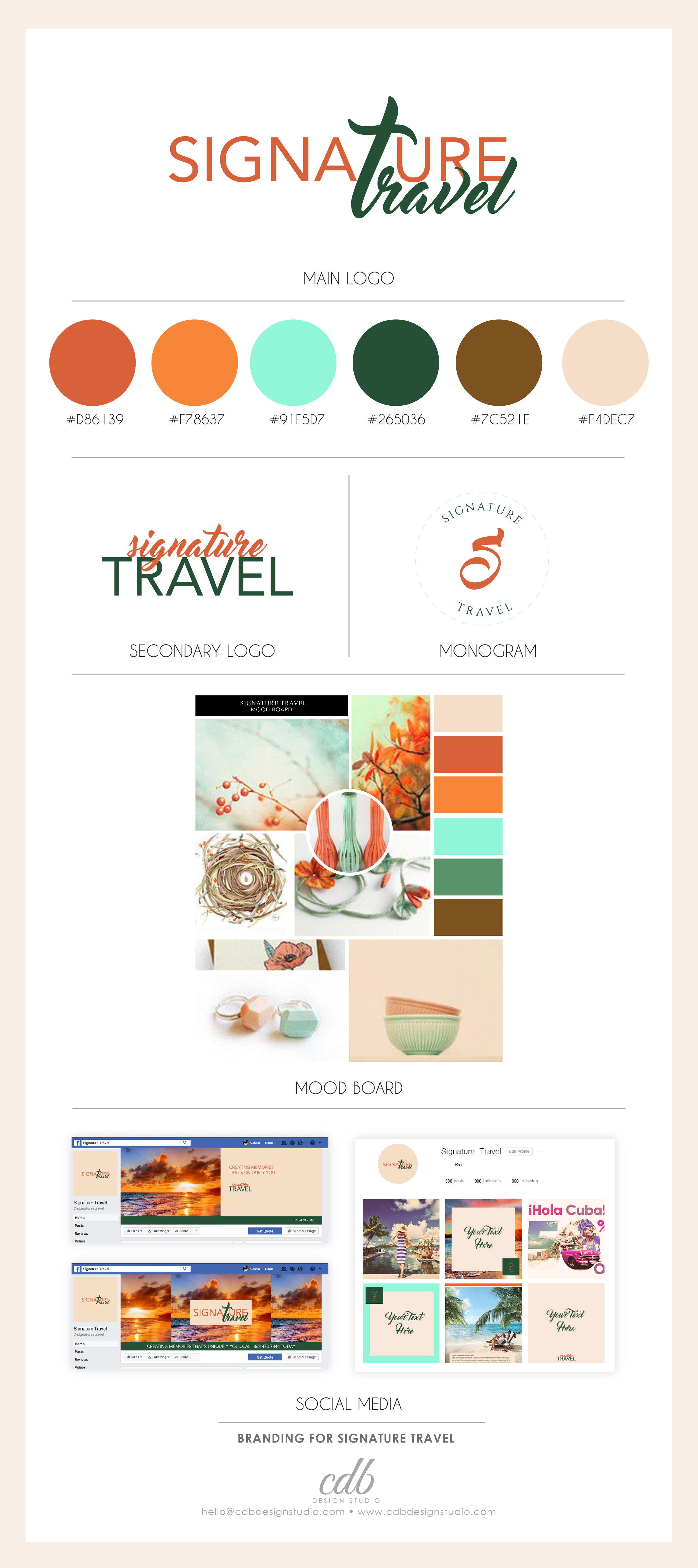 Signature Travel Brand Identity Design Case Study Branding Queen