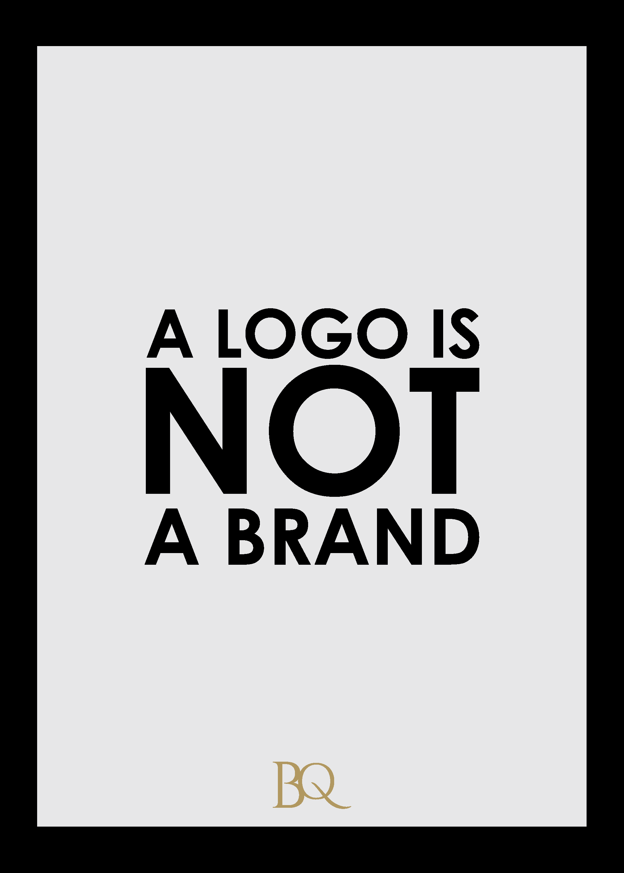 A logo is not a brand The Branding Queen cdb design studio