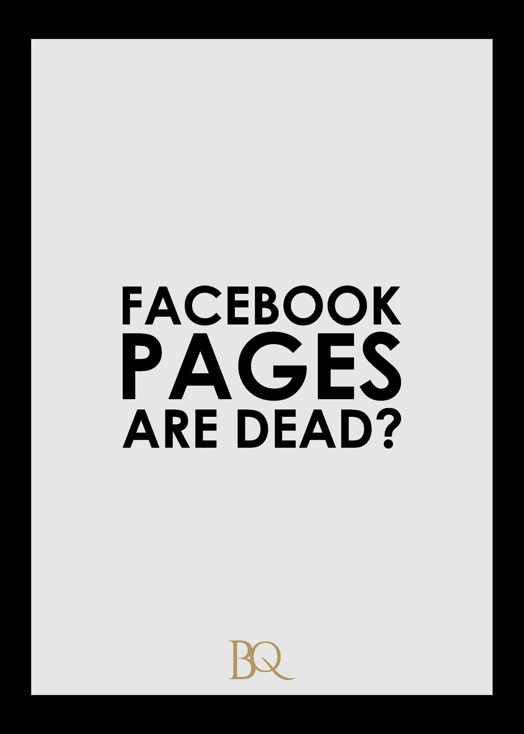 Facebook Pages Are Dead The Branding Queen cdb design studio