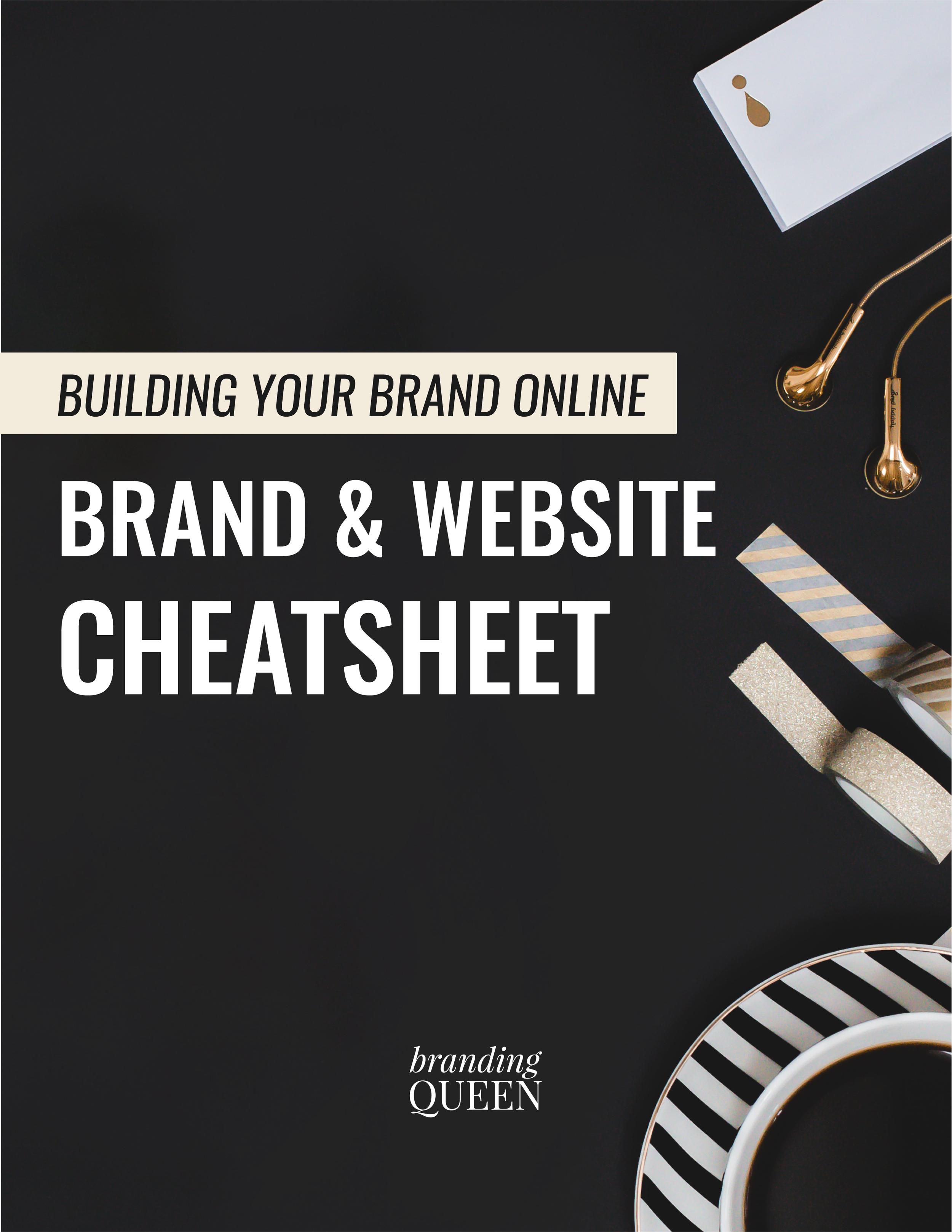 Website and Brand Cheatsheet Branding Queen Cassia Marina