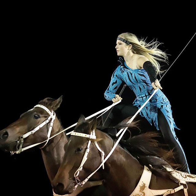Hope to see y'all in Bremen, Georgia this weekend! #romanriding #trickrider @ndjdesigns @profchoice