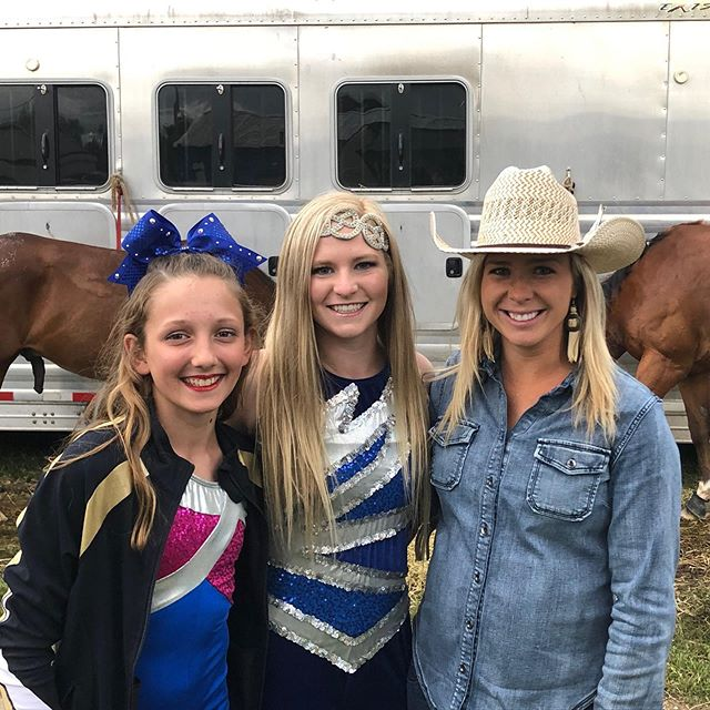 Thank you for having us Carney, Michigan! Wonderful people and wonderful weather! So thankful miss Annabelle Kindred was able to tag along and trick ride with Hannah! Annabelle is 11 years old and started with us when she was only 7!@ndjdesigns #trickriding #romanriding #startyoung #inspireothers