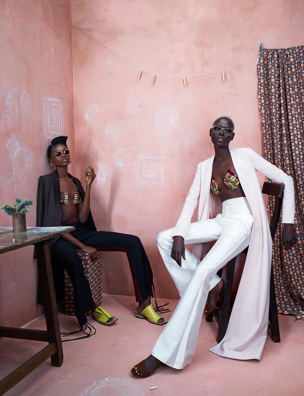 Maria Borges and Ajak Deng in Washington Roberts