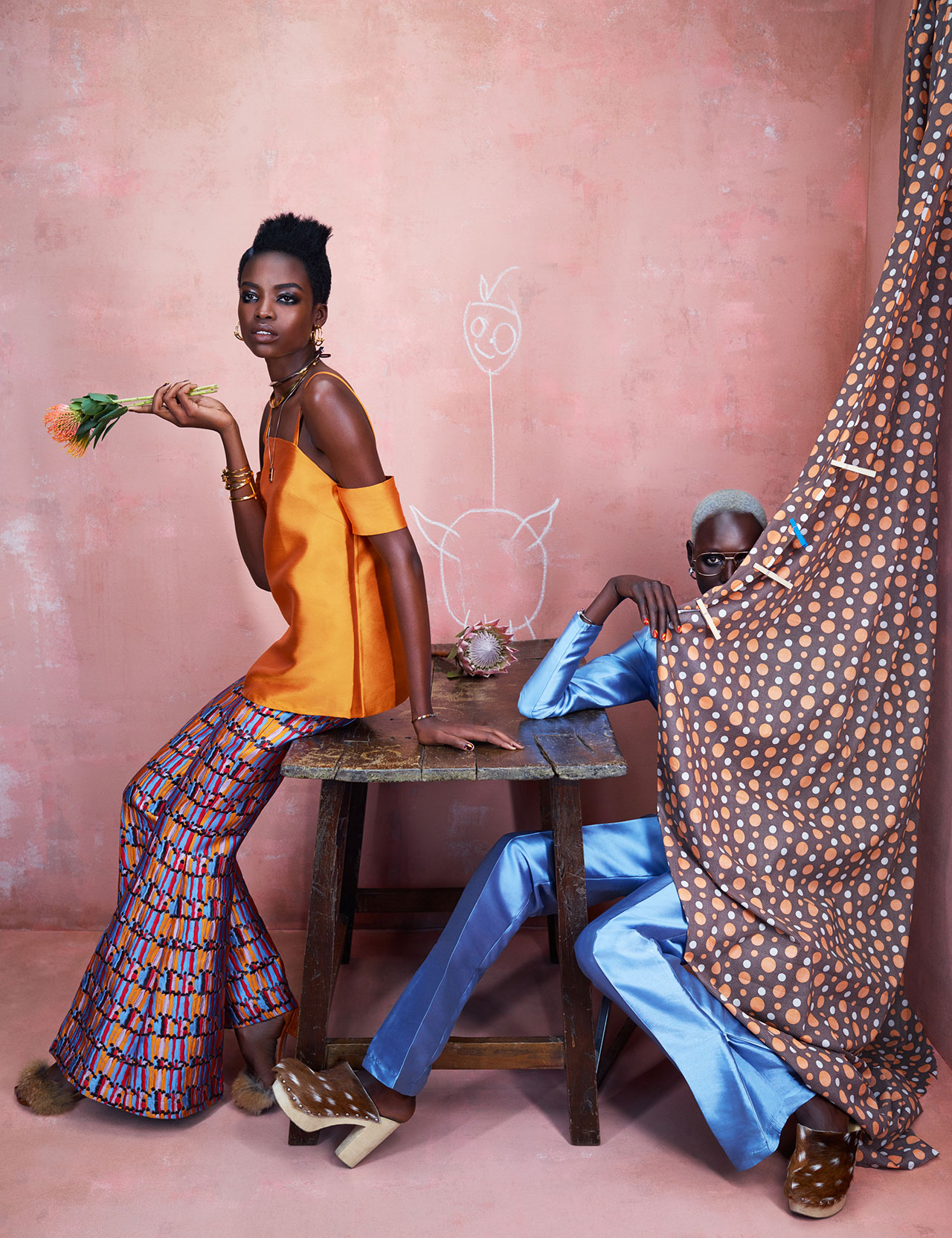 Maria Borges in Washington Roberts With Ajak Deng