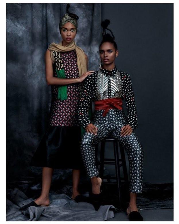 || ROYALTY FROM NIGERIA || New #Editorial for Schon Magazine @schonmagazine | Photography @lalotorre  Fashion/Creative Direction: @opethestylist  Models: @samantharchibald & @marling31@ @marilynagencyny  Hair: @anikerabiu  Makeup: @marymakeup  Fashion assistant : Mia Kamara Retouching @juandagrivera  #washingtonroberts #washingtonrobertsnewyork #fashioneditorial #schonmagazine #geometricprint