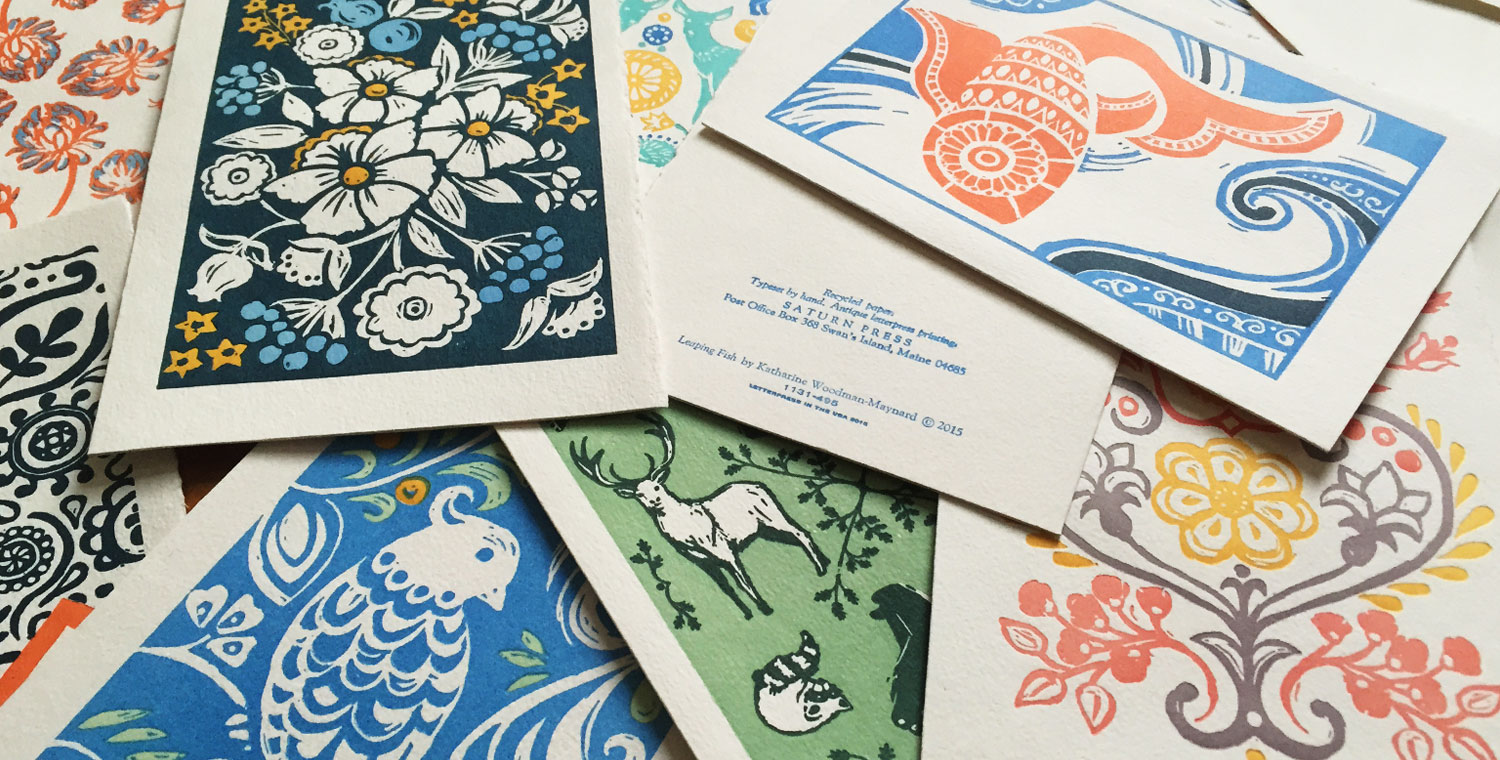 Illustrations - Saturn Press Letterpress Cards