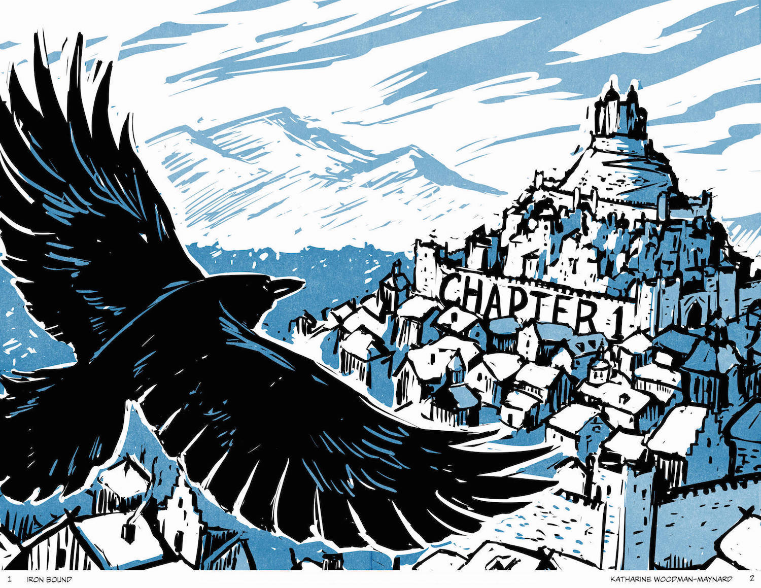 Sample art from my first graphic novel IRON BOUND which takes place in a medieval Scandinavian world.