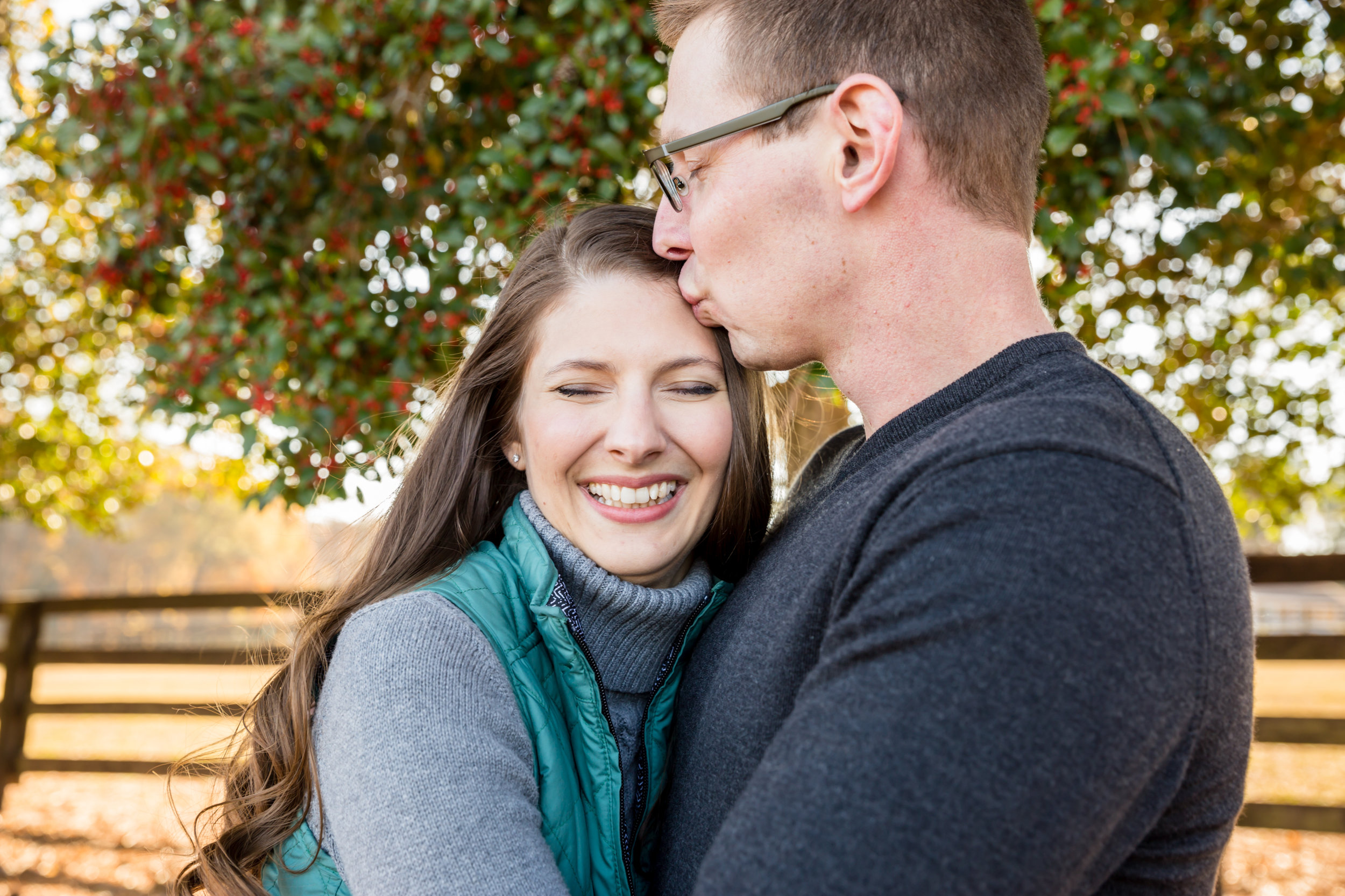 Sugg Farm Park Holly Springs, NC Engagement Photographer
