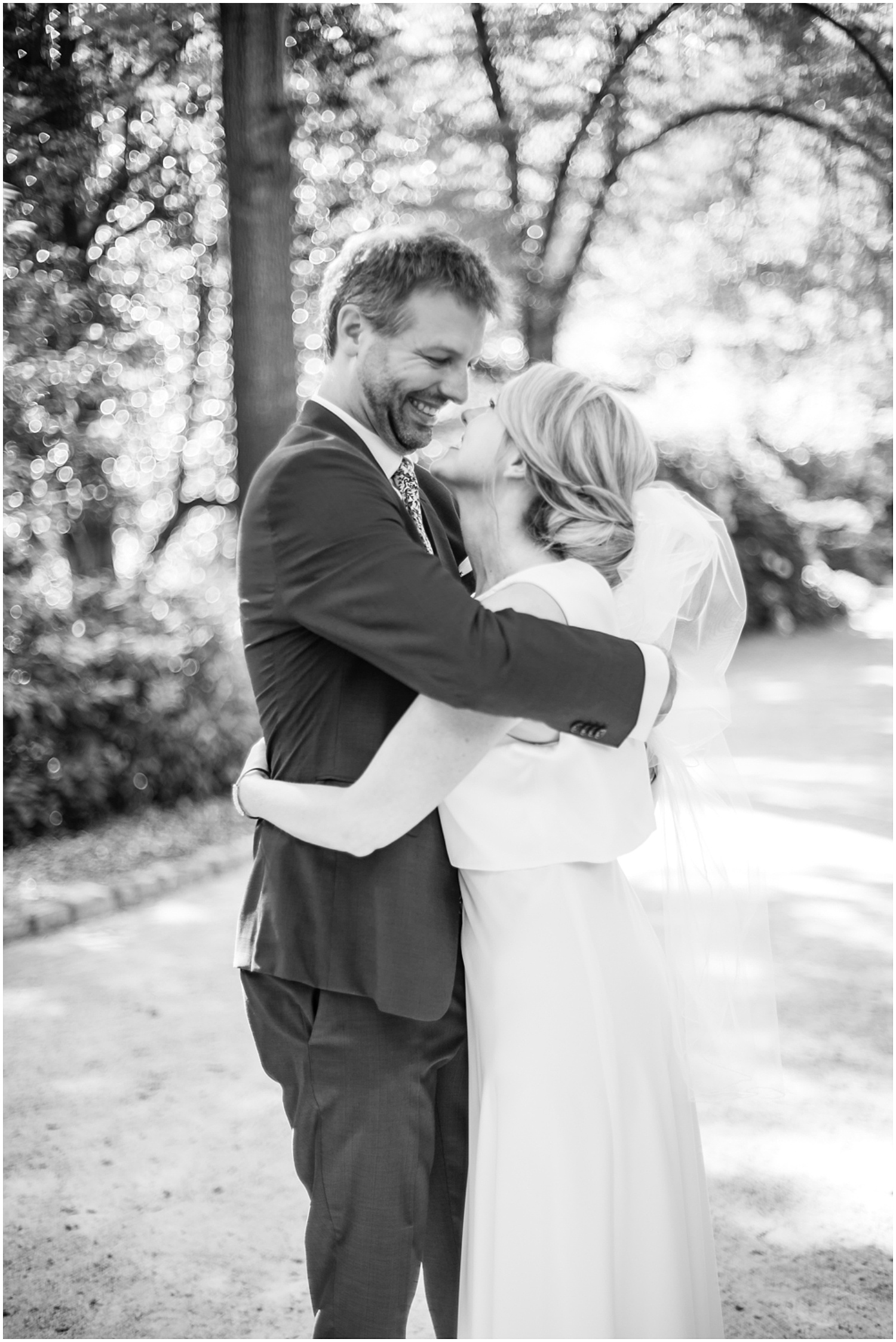 First Look Duke Gardens Wedding