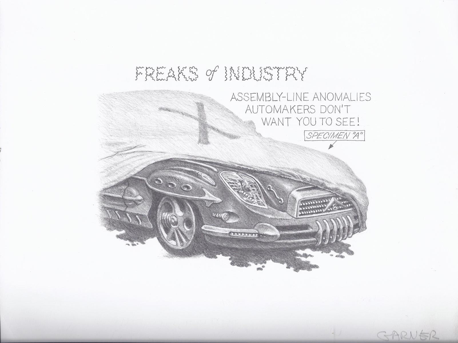 "Freaks Of Industry | Pencil on paper 8.5"" x 11"""