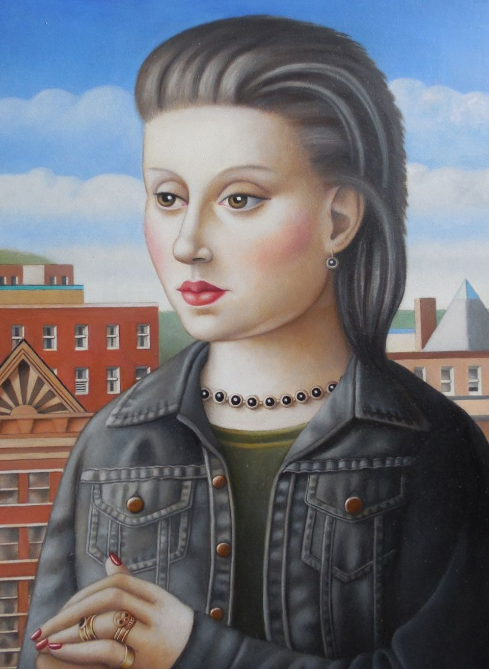 Woman with High Hair