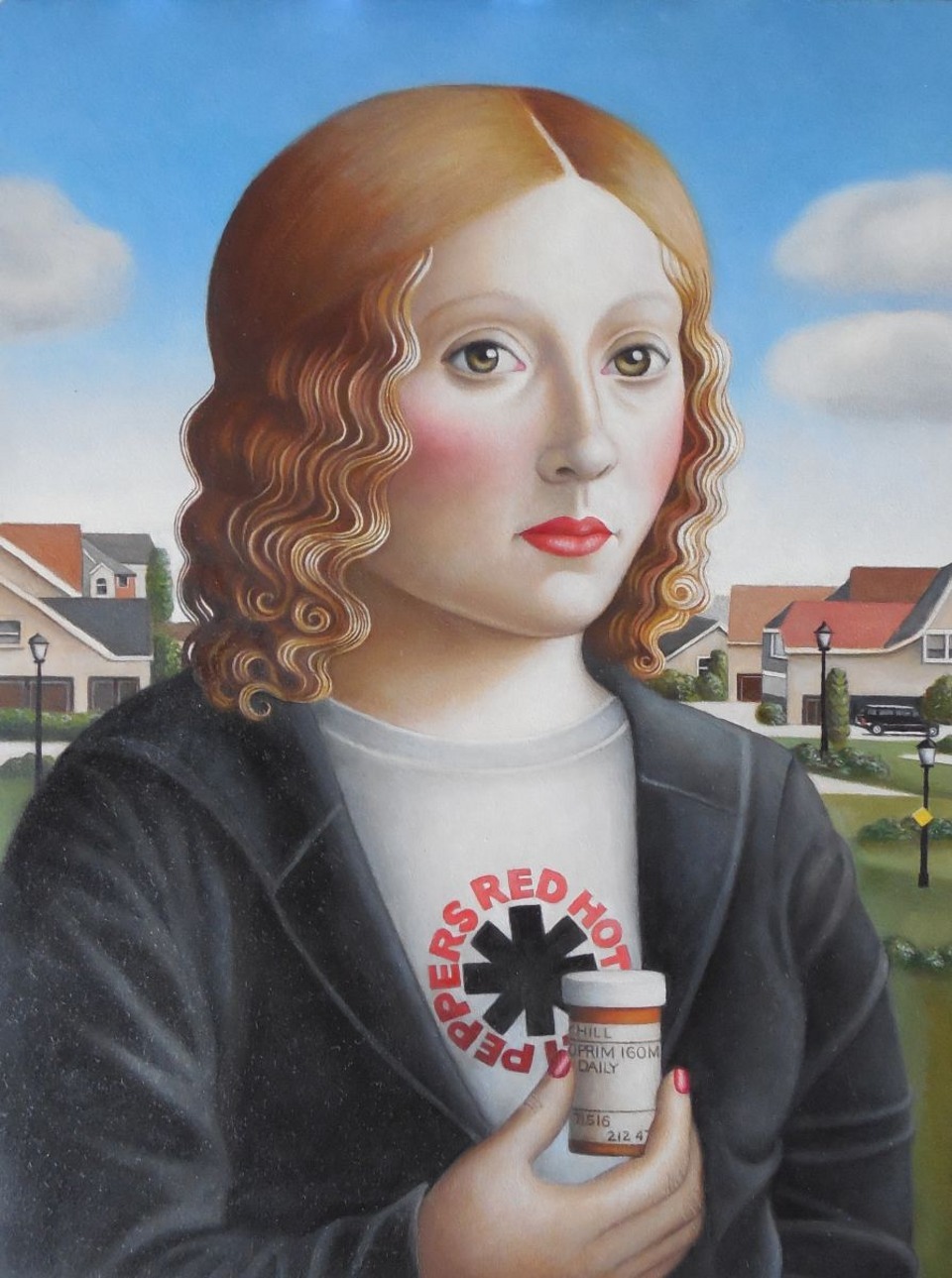 Young Woman with Anti-Depressants