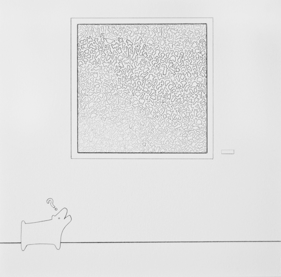 Untitled (Dog with Question Mark)