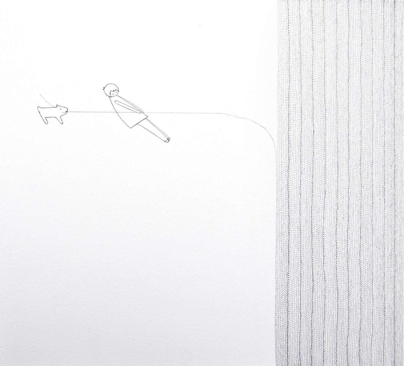 Untitled (Girl and Dog with Knit)
