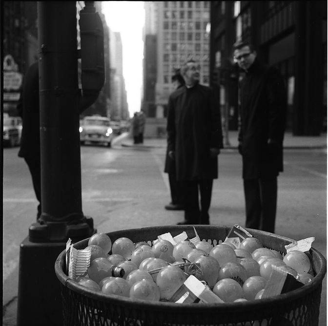 Chicago (Light Bulbs in Trash Can) 1967-68