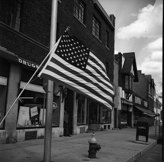 Chicago Suburbs (American Flag) ca. 1960s