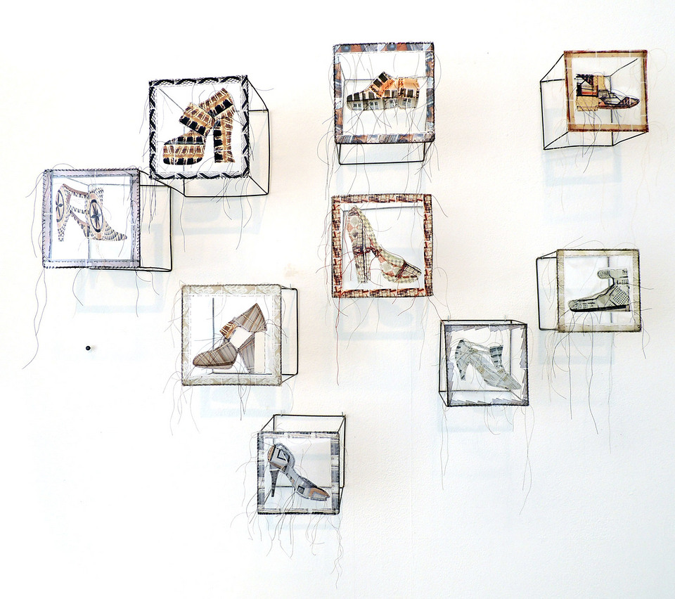 Shoe Cubes Installation
