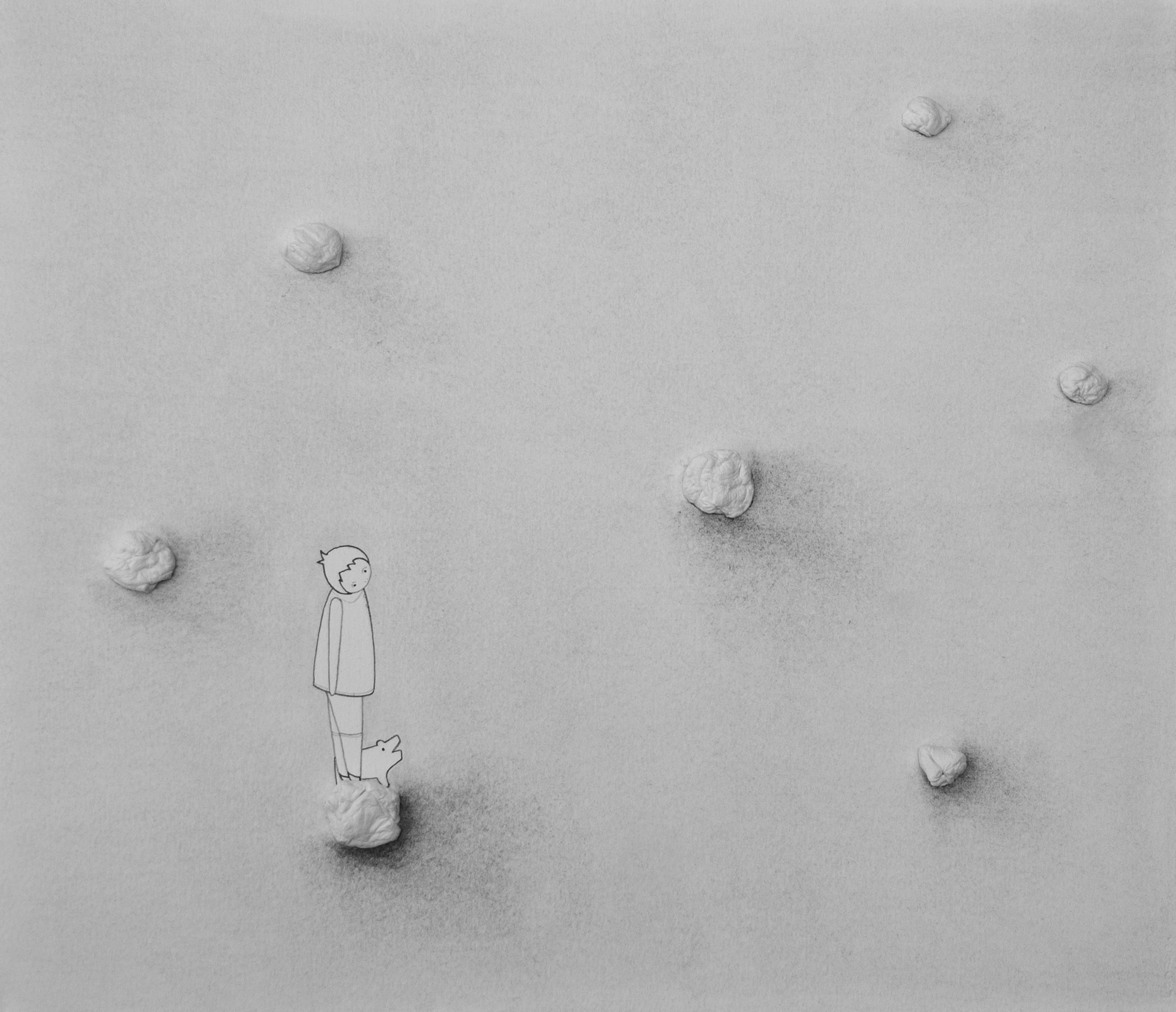 Untitled (Paper Pebbles)
