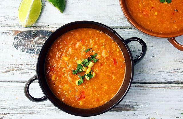 Sweet Potato and Corn Soup