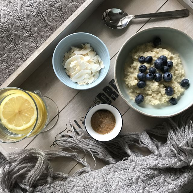 Millet Porridge With Blueberries & Nut Butter