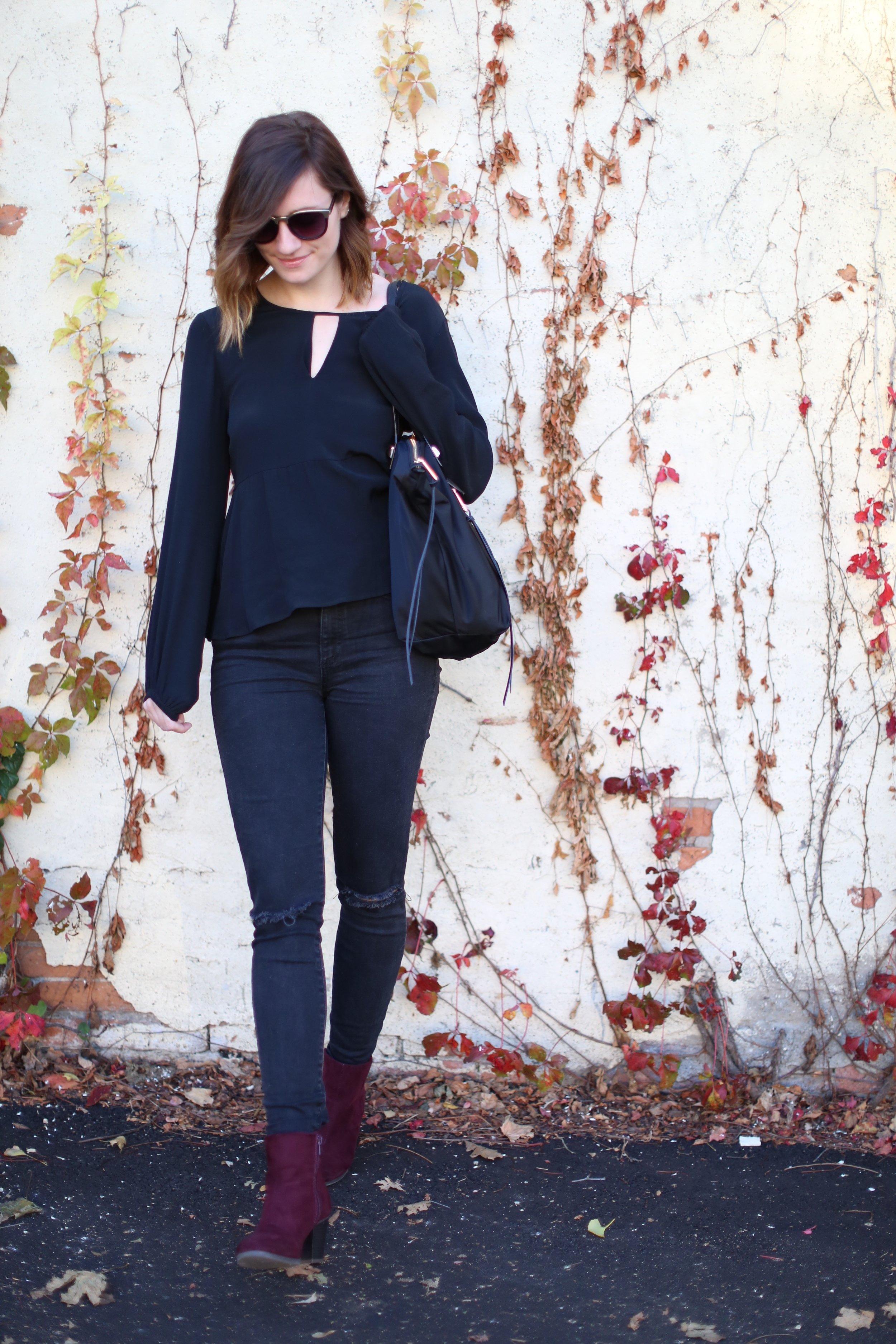 All Black | Woodbury Lane | Katelyn Now | Fall Style