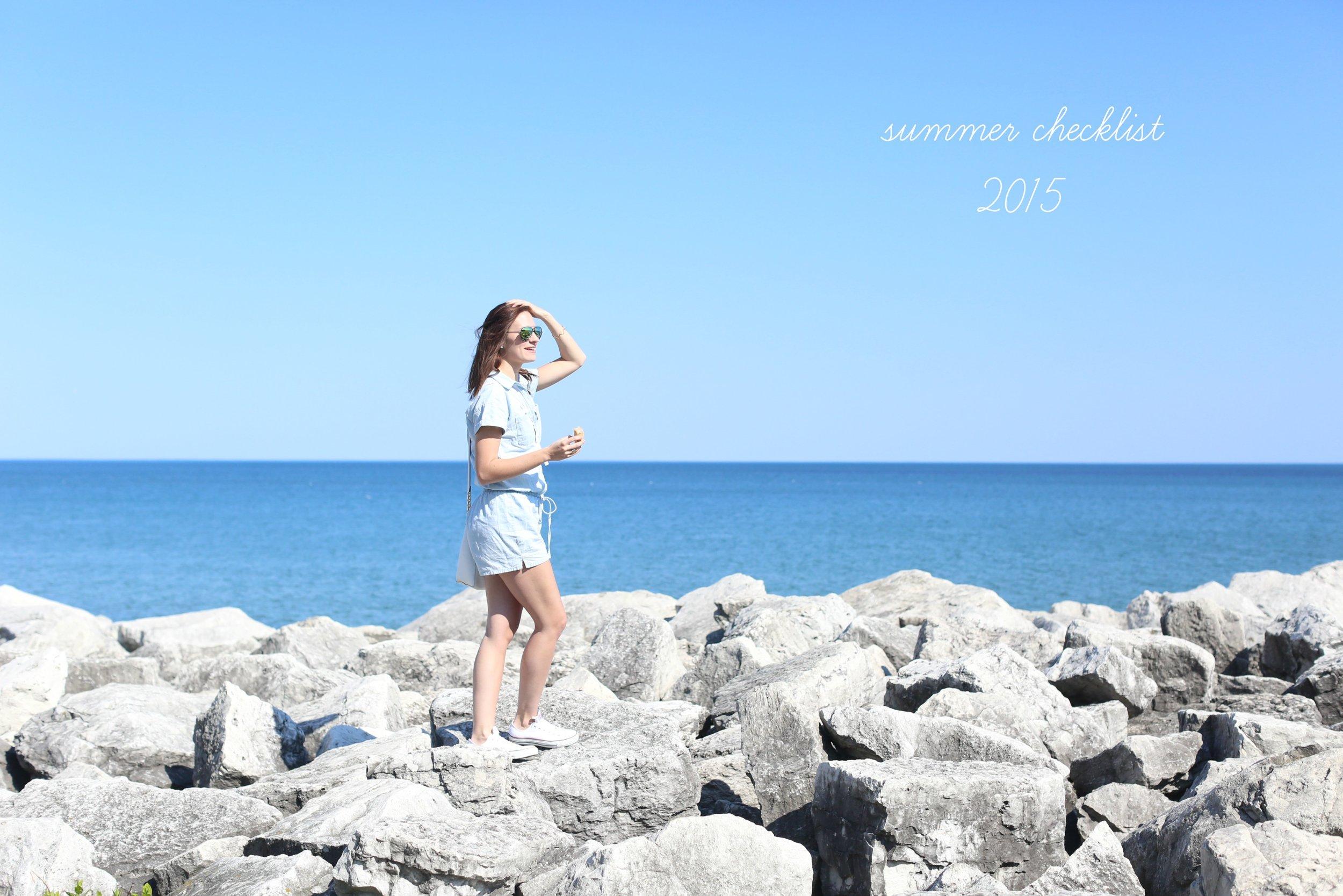Summer Checklist 2015 | Katelyn Now