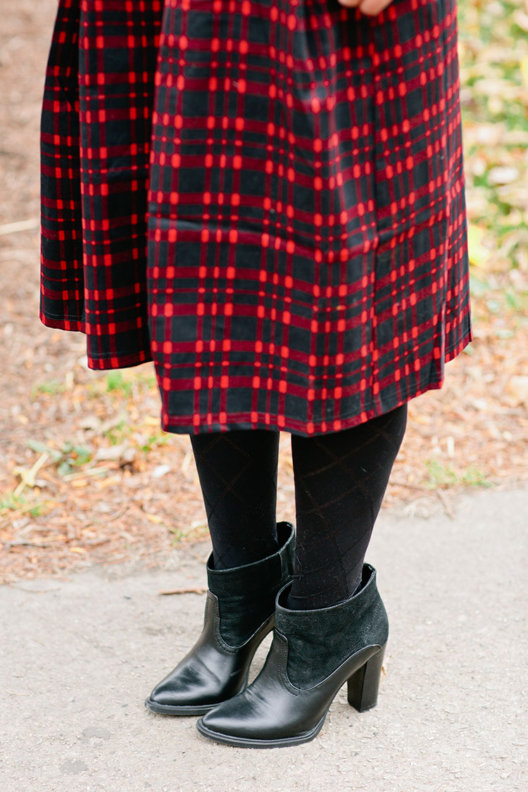 holiday-plaid-midi-skirt-ankle-boots