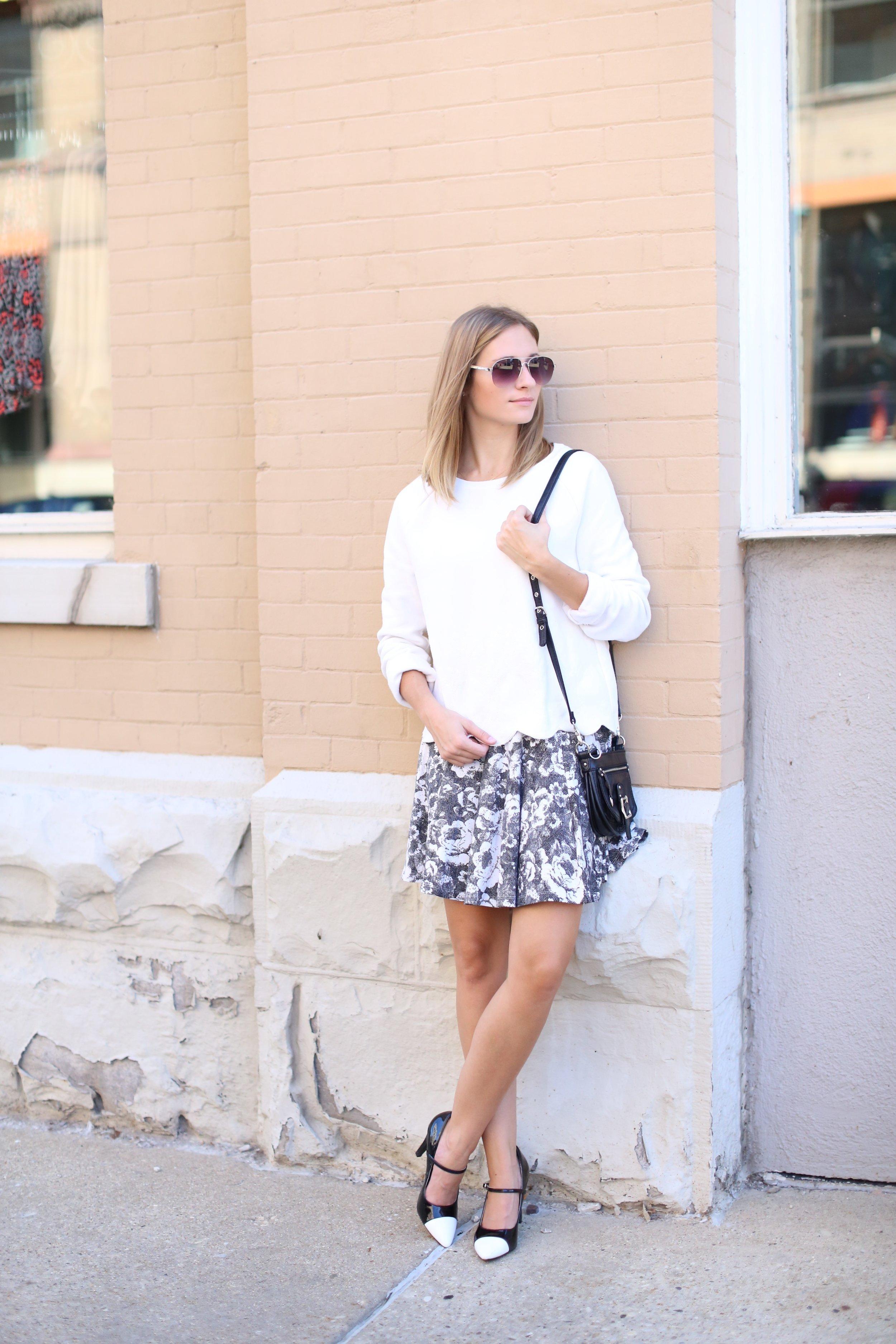 Black + White Outfit   Katelyn Now