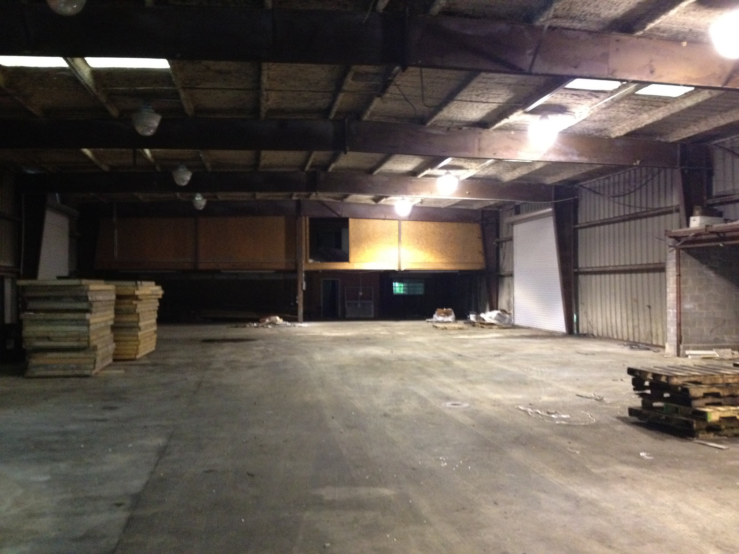 INTERIOR OF WAREHOUSE 1A