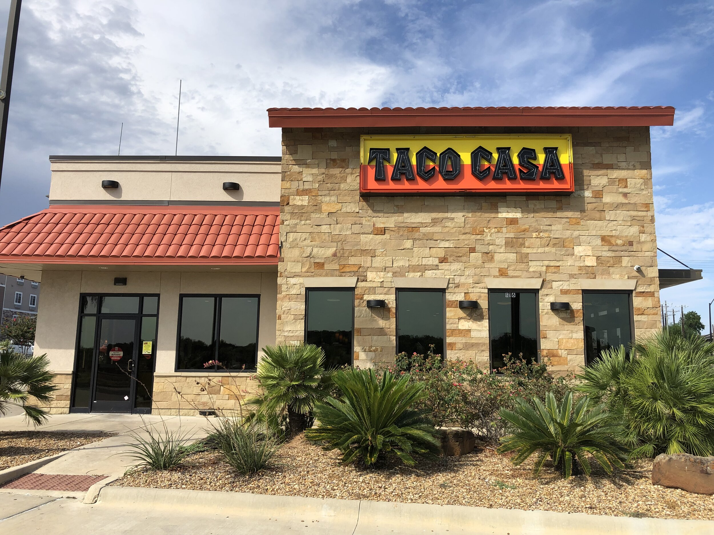 Taco Casa franchise restaurant, store #68, opened in 2013 in College Station / Bryan, Texas off state highway 6