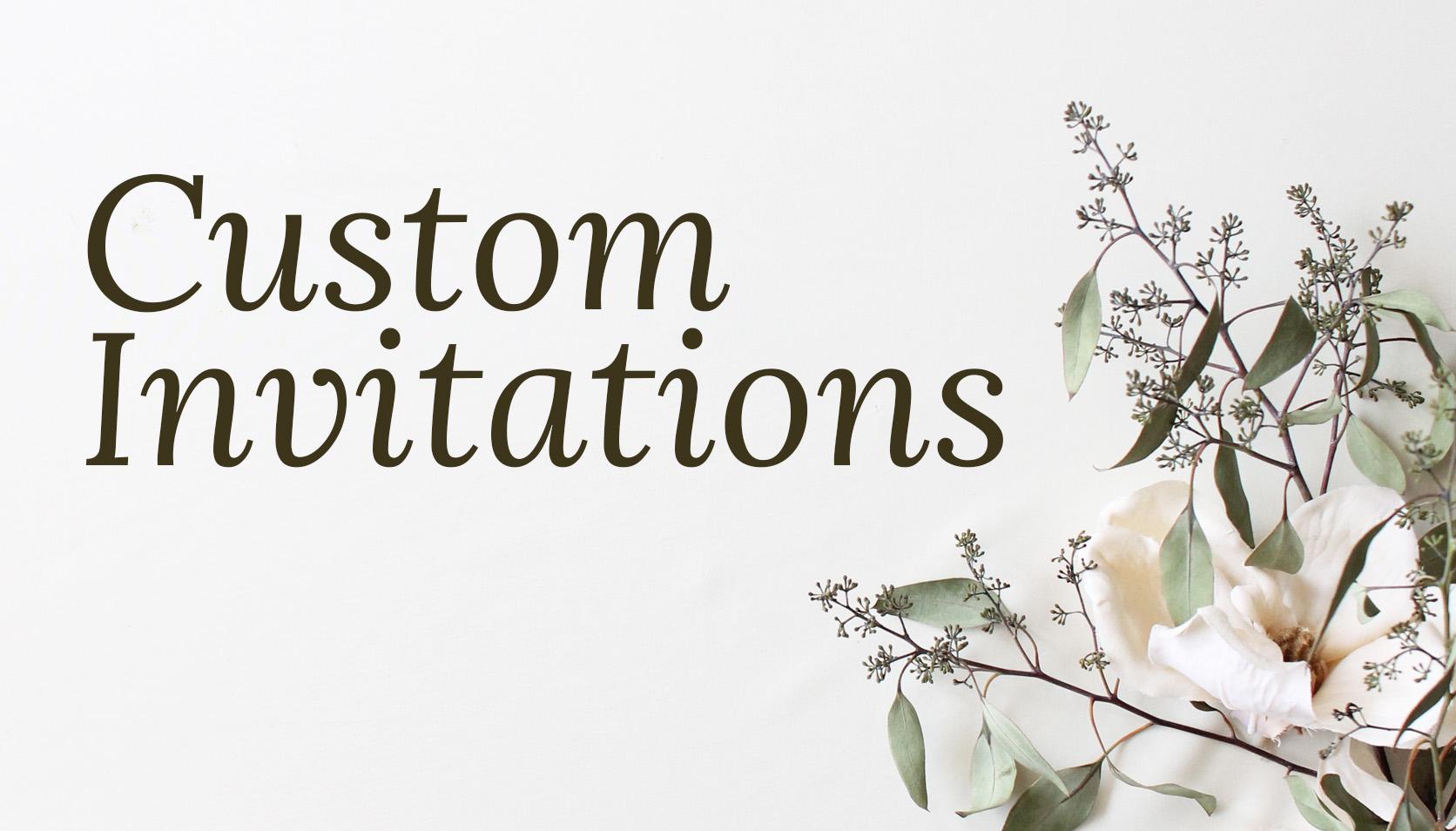 Blush and Blue Designs Custom Invitations
