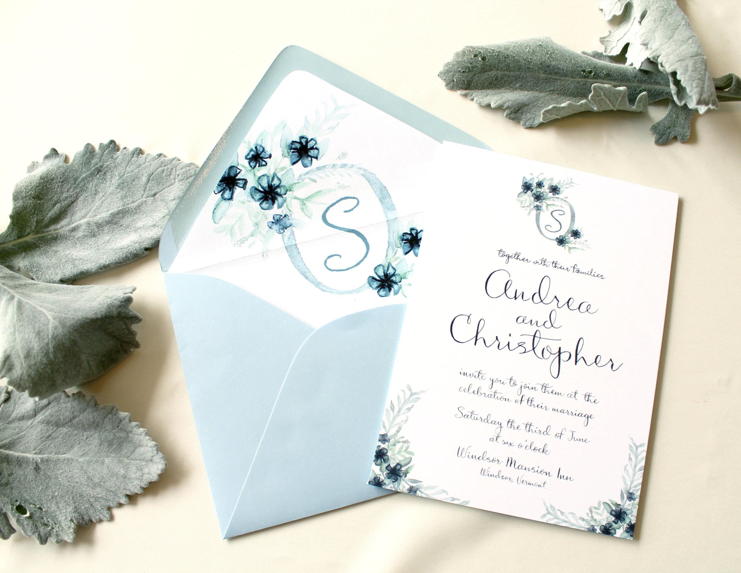 Blush and Blue Designs - Custom Wedding Invitation Designs, Raleigh wedding invitation designer