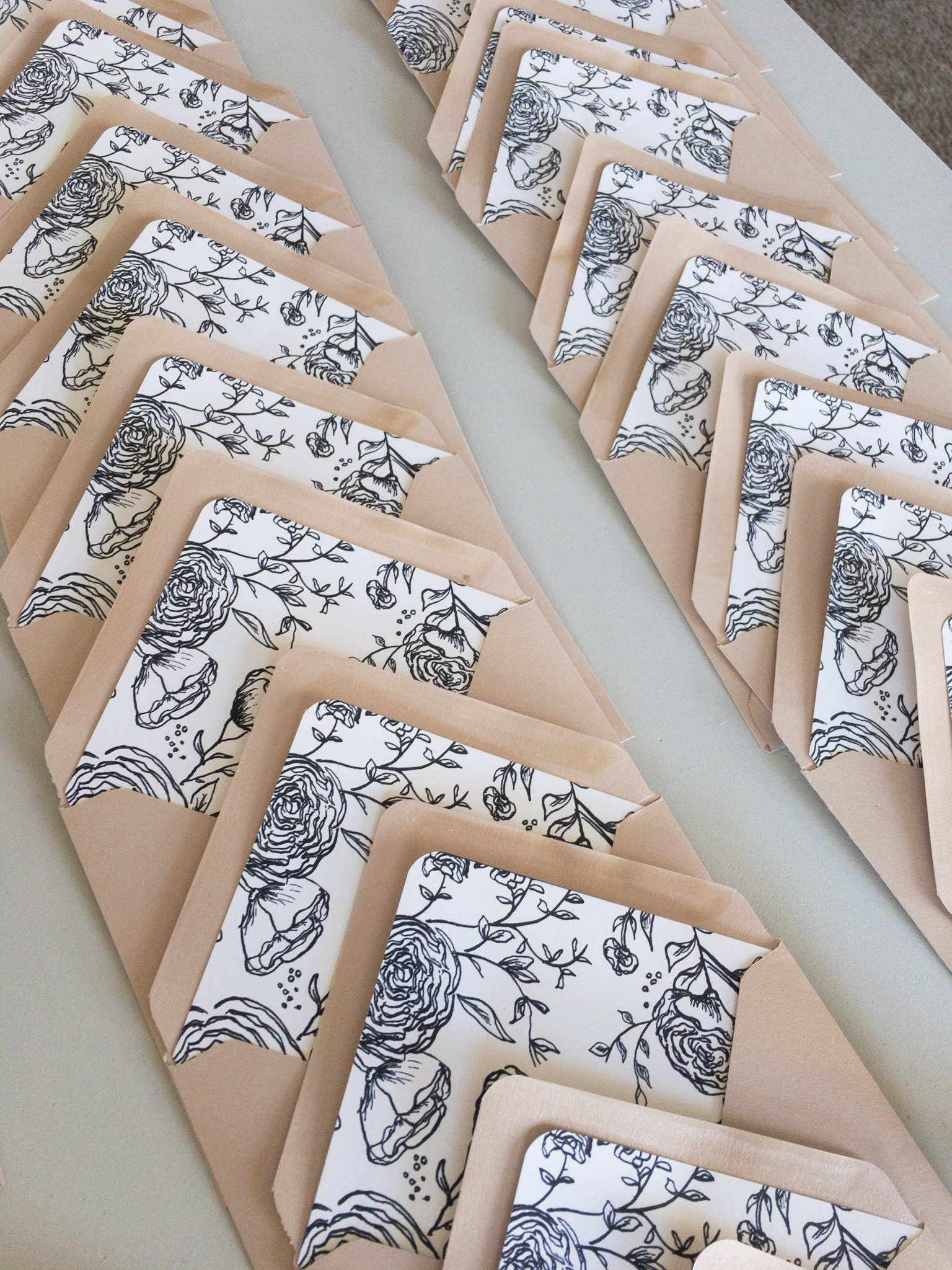 Inner Envelope Liners. Response envelopes. Wedding invitation design. Raleigh, North Carolina
