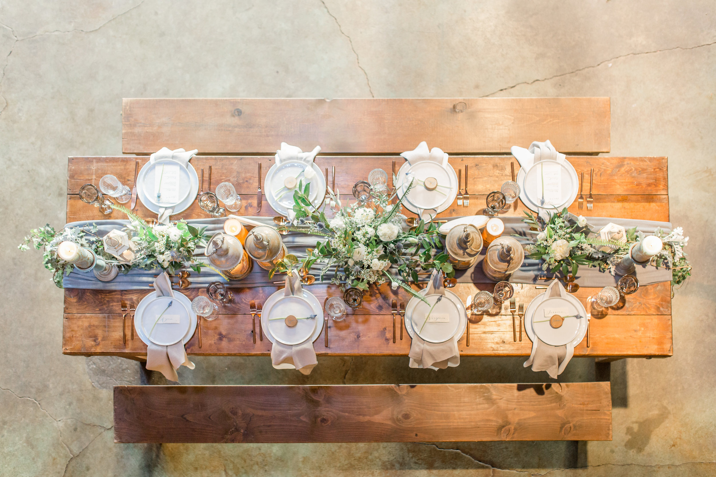 San Diego wedding, Luce Loft, table design rustic chic